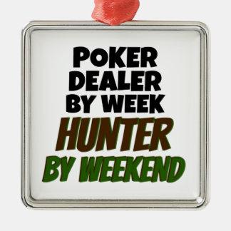 Poker Dealer Loves Hunting Christmas Ornament