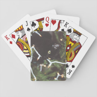 Poker deck Cat in Christmas Tree