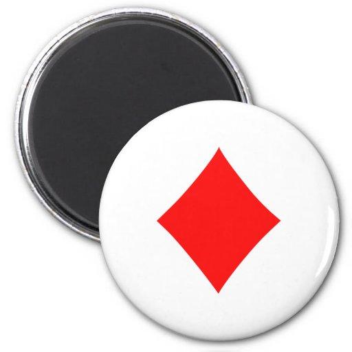 Poker diamonds fridge magnets
