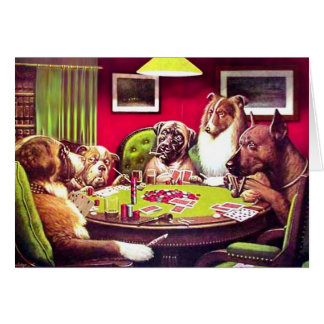 Poker Dogs A Bold Bluff Cards