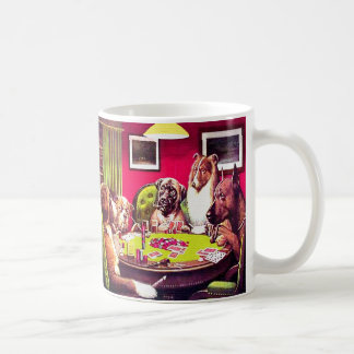 Poker Dogs: A Bold Bluff Coffee Mug