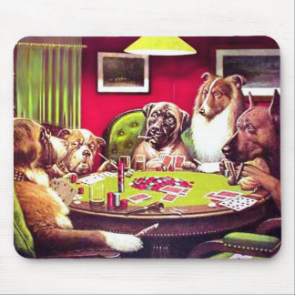 POKER DOGS:  A BOLD BLUFF MOUSE MAT