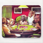 POKER DOGS:  A BOLD BLUFF MOUSE PAD
