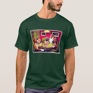 Poker Dogs: A Bold Bluff T-Shirt