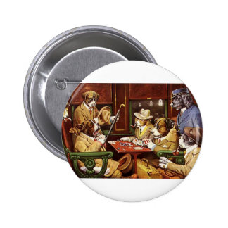 poker dogs.jpeg 6 cm round badge