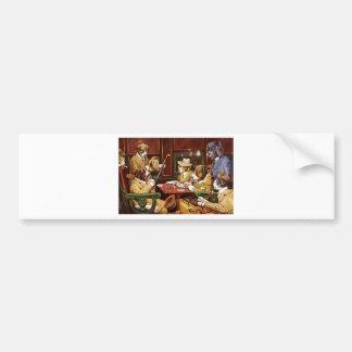 poker dogs.jpeg bumper sticker