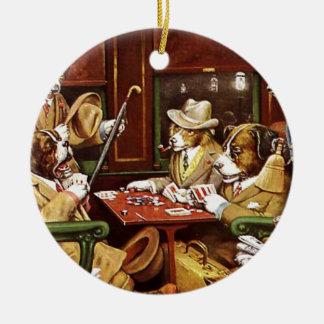poker dogs.jpeg christmas ornament