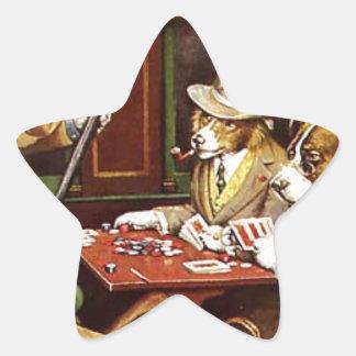 poker dogs.jpeg star sticker