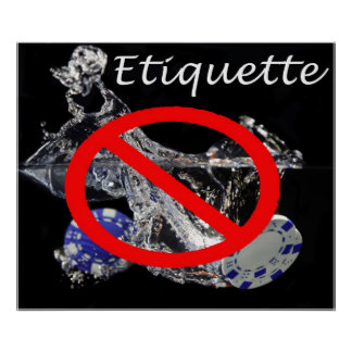 Poker etiquette poster