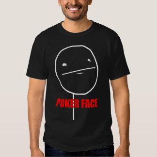 Poker Face- 2-sided Black T-Shirt