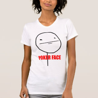 Poker Face - 2-sided Ladies Petite T-Shirt