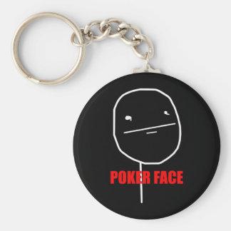 Poker Face - Black Keychain