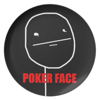 Poker Face - Black Plate