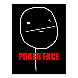 Poker Face - Black Postcard