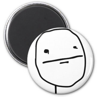 Poker Face Comic Face Magnet