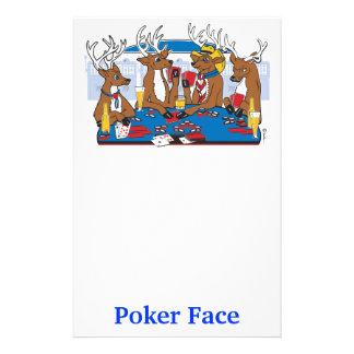 Poker Face Deer Stationery Paper