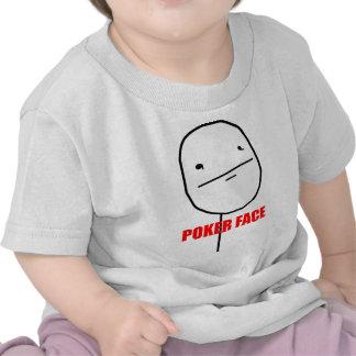 Poker face internet meme tees