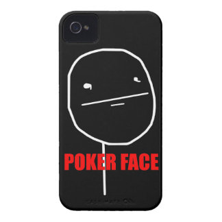Poker Face - iPhone 4/4S Black Case Case-Mate iPhone 4 Cases