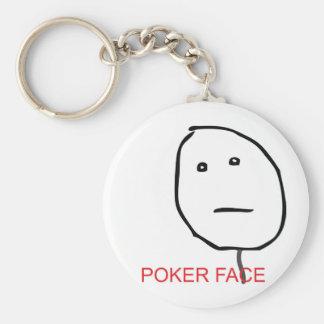 Poker Face Key Ring