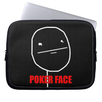 Poker Face - Laptop Black Sleeve Laptop Computer Sleeve