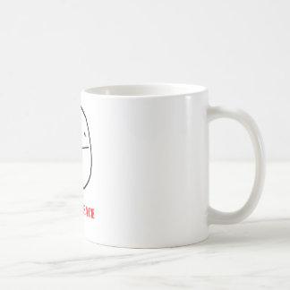 Poker face - meme basic white mug