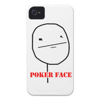 Poker face - meme iPhone 4 Case-Mate cases