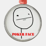 Poker face - meme christmas tree ornaments