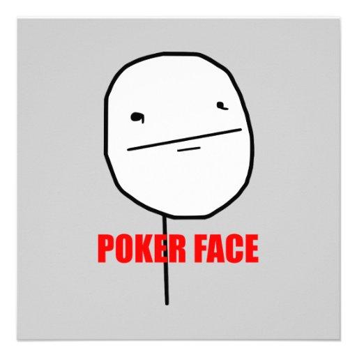 Poker Face Meme Personalized Invite