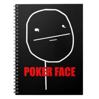 Poker Face Meme Notebooks