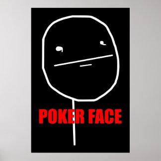 Poker Face Meme Poster