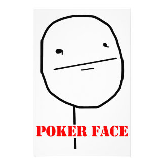 Poker face - meme stationery design