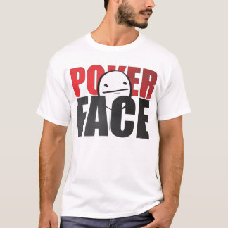 Poker Face Meme White T-shirt! T-Shirt