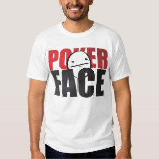 Poker Face Meme White T-shirt! T Shirts