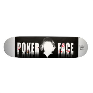 Poker Face, Original MrEco Design Skateboard