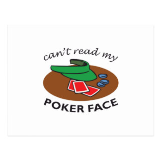 POKER FACE POST CARDS