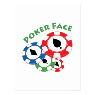 Poker Face Post Card