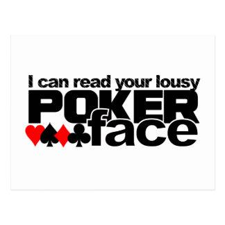Poker Face postcard