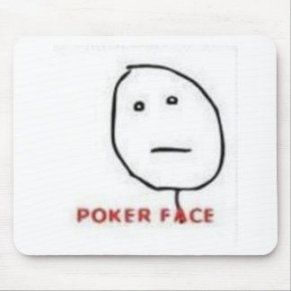 Poker Face Rage Comic Mouse Pad