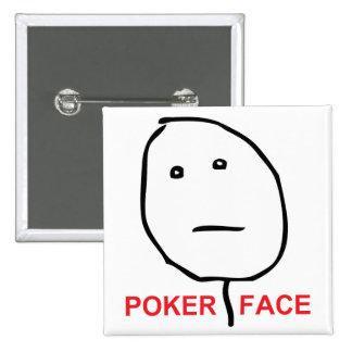 Poker Face Rage Face Meme 15 Cm Square Badge