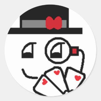 Poker Face Round Sticker