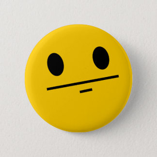 Poker Face Smiley 6 Cm Round Badge
