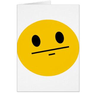 Poker Face Smiley Card