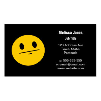 Poker Face Smiley face Business Card Templates
