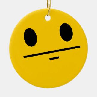 Poker Face Smiley face Christmas Ornament