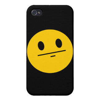 Poker Face Smiley face iPhone 4 Cases