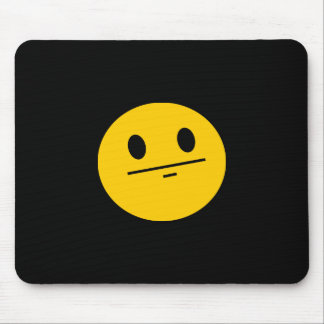 Poker Face Smiley face Mouse Pad