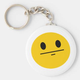 Poker Face Smiley Key Ring