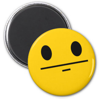 Poker Face Smiley Magnet