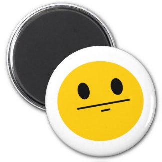 Poker Face Smiley Magnet