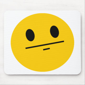 Poker Face Smiley Mouse Pad